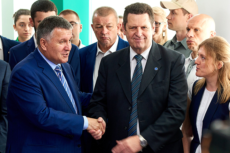 Arsen Avakov and Udo Mouller